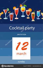 cocktail party invitation u2014 stock vector polyudova 145804533