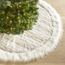 faux fur tree skirt snow leopard faux fur tree skirt pier 1 imports