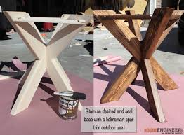 X Side Table Diy X Brace Concrete Side Table Plans Step 10 Make Diy