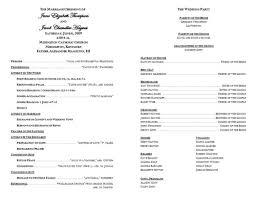 Sample Wedding Program Catholic Wedding Program Sample Cake Disney Topper Wedding