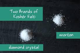 ratio kosher salt to table salt kosher salt crystal and morton