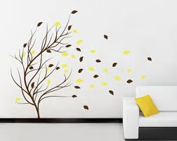 Stick On Wall Winter Tree With Birds Decals Living Room Decals Stick On Wall