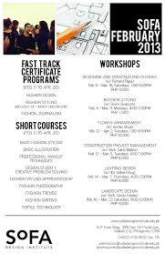 Fashion Stylist Certificate Programs Manila Fashion Observer Sofa Workshops Short Courses