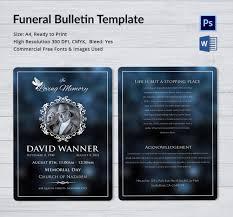 funeral bulletin funeral bulletin template 5 word psd format free