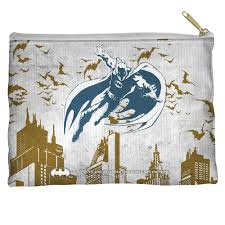 batman custom city vibe accessory pouch 100 spun polyester with
