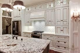 Kitchen Backsplash For White Cabinets White Granite On White Kitchen Cabinets Fantastic Home Design