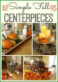 Fall Centerpieces Simple Fall Centerpiece Ideas