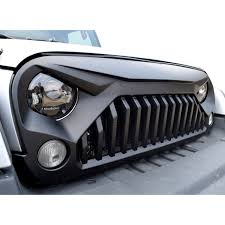black jeep 2017 matte black gladiator vader grille for jeep wrangler jk 2007 2017