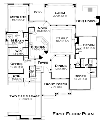One Floor House Plan by 2800 Square Feet One Story House Plans House Interior