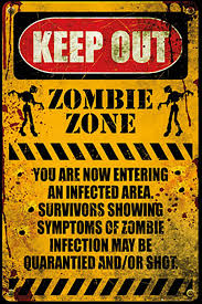 amazon com poster service zombie keep out poster 24 inch by 36