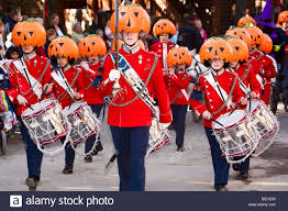 halloween decorated music guards in tivoli copenhagen denmark