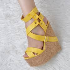 original intention gorgeous women sandals platform peep toe wedges
