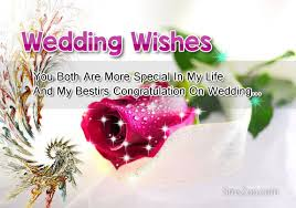 marriage wishes wedding wishes for and in