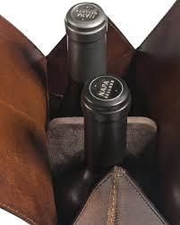 Single Wine Bottle Holder by Leather Wine Bottle Carrier And Bag Balsam Hill