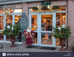 Pictures Of Christmas Decorations In Germany Coffee Shop Entrance Festive Christmas Decorations Germany Stock