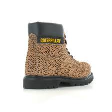 womens caterpillar boots uk caterpillar colorado p307005 womens hair on print leather boots