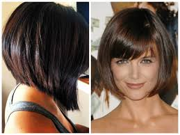 back view of asymmetrical bobs hairstyle hairstyles ideas