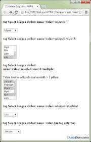 membuat form input menggunakan html tutorial form html fungsi dan cara penulisan tag select form html