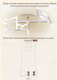 basilica floor plan minor basilica of the immaculate conception wanjin and
