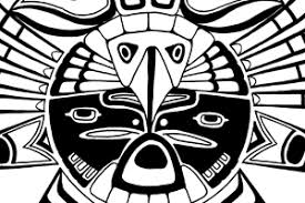 haida eagle bird tattoo tradtional design