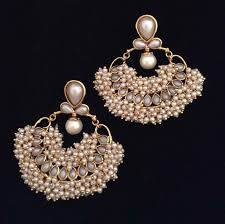 earrings online india buy chandni pearl traditional india made jewellery