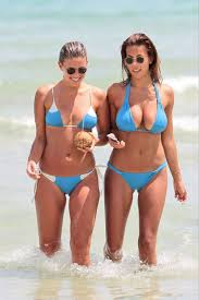 devin brugman and natasha oakley in bikinis at a beach in miami 09