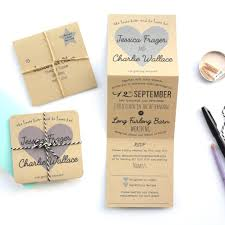 tri fold wedding invitations recycled heart tri folded wedding invitation paper and inc