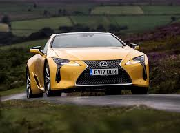 lexus yellow lexus lc coupe review summary parkers