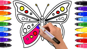 butterfly coloring page coloring book for kids colored markers