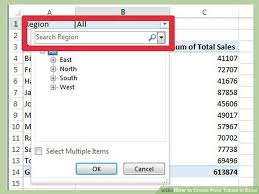 How To Do A Pivot Table In Excel 2013 3 Easy Ways To Create Pivot Tables In Excel With Pictures