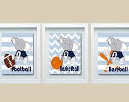 Sports Nursery Wall Decor Sports Wall Decor Etsy