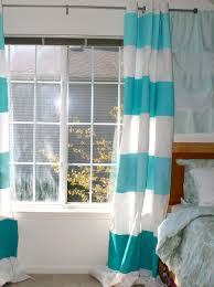 Blue And White Striped Drapes La Vie Diy Diy Ombre Striped Curtains