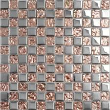 Gold Items Crystal Glass Mosaic Tile Wall Backsplashes by Glass Mosaic Sheets Silver Pink Rose Gold Tiles Kitchen Backsplash