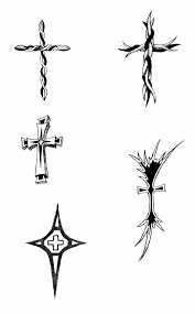 tribal cross tattoos pack tattooshunt com
