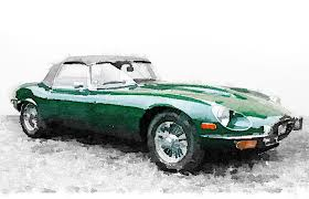 jaguar e type paintings fine art america