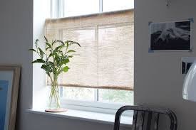 Roller Shades With Curtains For Soft Light And Farmhouse Vibes Diy Rustic Burlap Roller Shades