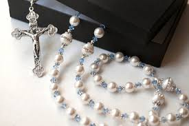 wedding rosary catholic wedding gifts something blue catholic wedding rosary