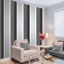 Grey Wallpaper Living Room Uk Crown Millie Stripe Wallpaper Charcoal M0881 Wallpaper From I