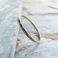 thin gold wedding band thin half wedding band in solid 14k yellow gold tiny gold