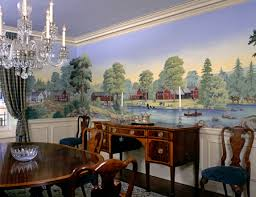 Murals And Scenic Wallpaper Add Distinctly Personal Touch East - Dining room mural