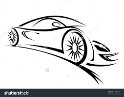 fast car clipart black and white clipartxtras