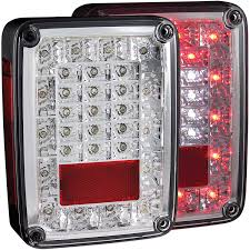 Jeep Tj Led Tail Lights Anzo Usa Jeep Wrangler Jk 07 17 L E D Tail Lights Chrome