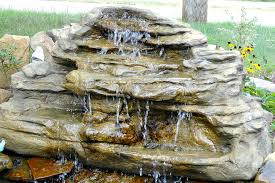backyard waterfalls pool u0026 pond waterfall fake rocks u0026 kits