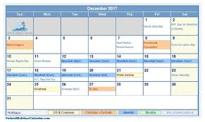 december 2017 calendar printable template usa uk canada