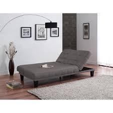 lounger futon metropolitan futon lounger grey linen walmart