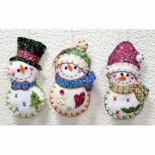 5 stitched santa snowman felt ornament buy felt ornament