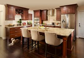 Pictures Of Kitchens With Cherry Cabinets Cherry Shaker Cabinets Kitchen Remodeling Photos