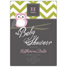 mod baby shower chevron mod owl pink baby shower invitations paperstyle