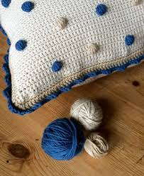 Knitted Cushions Free Patterns Crochet With Kate Beautiful Bobble Cushion U2022 Lovecrochet Blog
