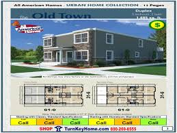 Duplex Plan Old Town Duplex All American Modular Home Urban Collection Plan Price